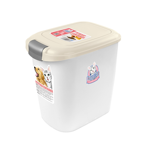 Cat Idea Double Open PetFood Container 5~7kg  Cream