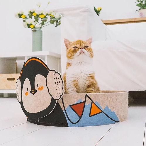 Cat Scratcher Bed - Penguin