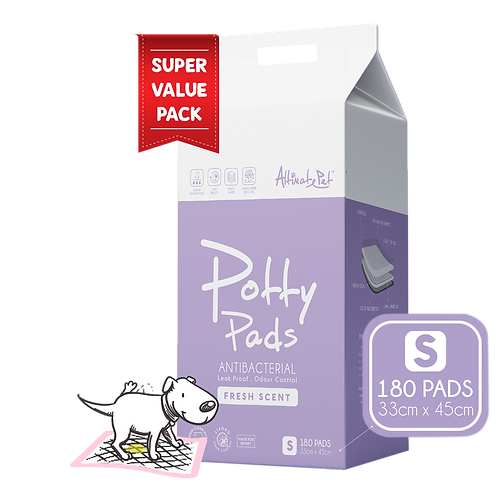 AltimatePet PottyPads ValuePack (S) 33x45cm(180pcs) | Pee Pad