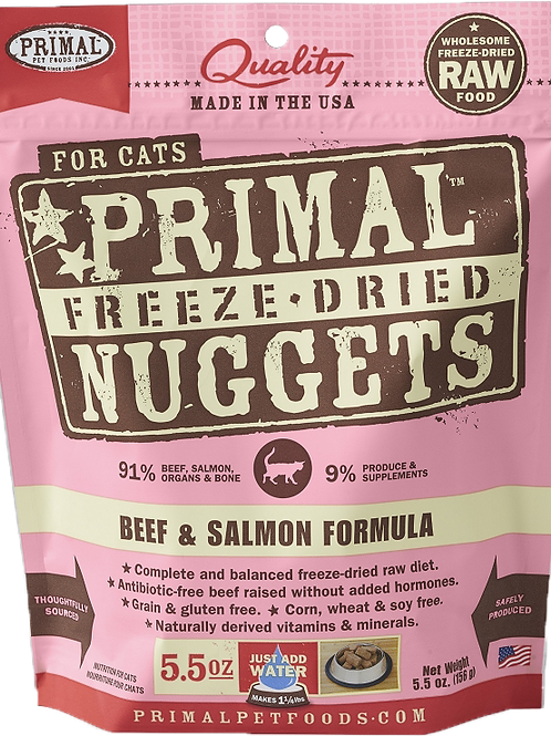 Primal Raw Freeze-Dried Feline Beef & Salmon