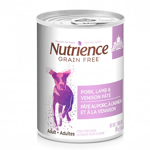 Nutrience GF Dog Pork, Lamb & Venison Pate 369g