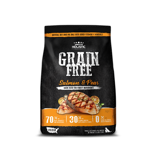 Absolute Holistic Grain Free Salmon & Peas Dog Food | 3 s