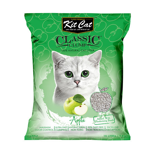 Kitcat Cat Litter 10L/7kg (Apple)