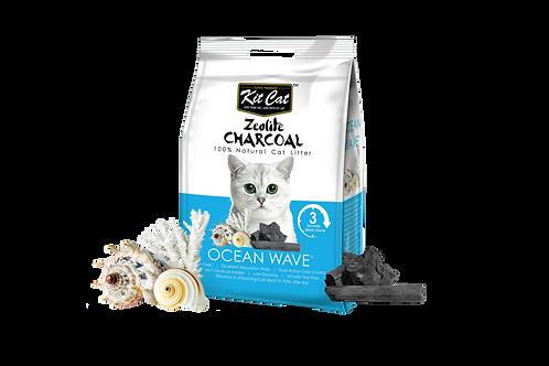 Kit Cat Zeolite Charcoal Ocean Wave 4kg