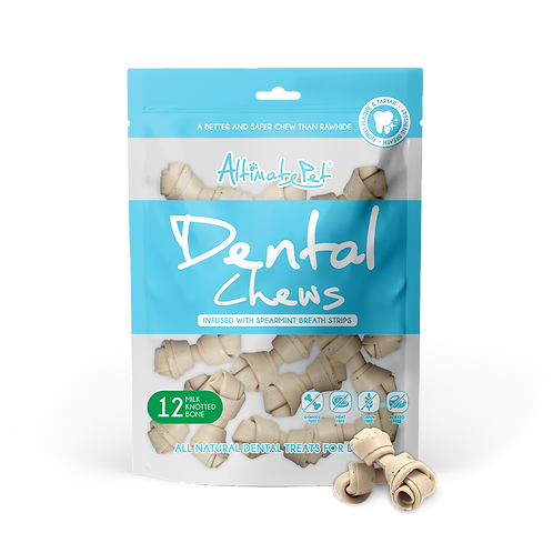 AltimatePet Dental Chews Milk Knotted Bone 150g (12pcs)
