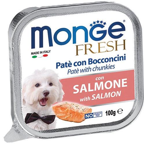 Monge Fresh Pate & Chunkies With Salmon 100g