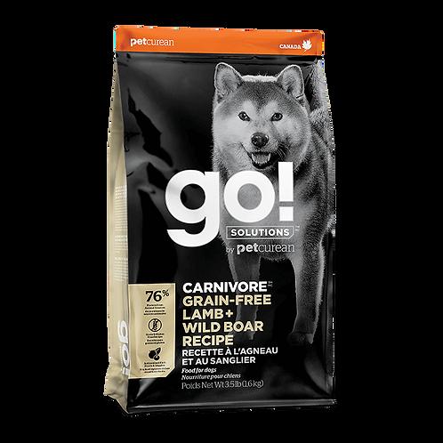 Go! Carnivore DF GF Lamb + Wildboar Recipe