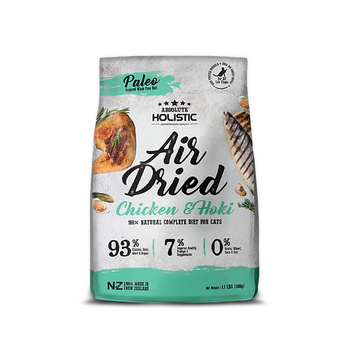 Absolute Holistic Air Dried Chicken & Hoki For Cat 500g