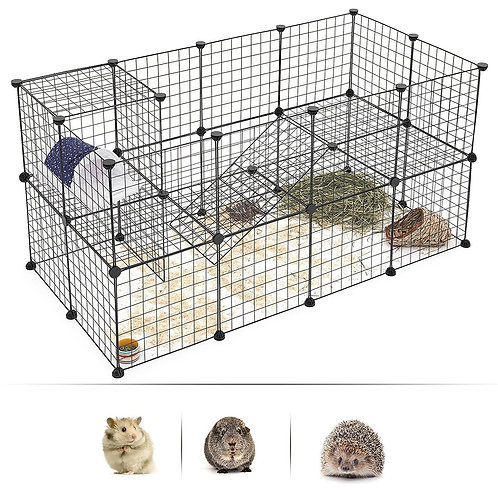 Small Animal Rabbit | Guinea Pig | Chinchilla  Buildable Fence - 10pcs of Panels