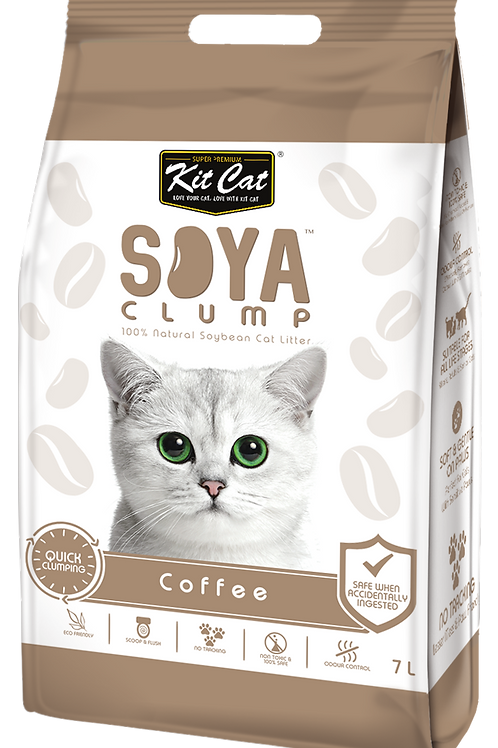 Kit Cat SoyaClump Soybean Litter 7L (Coffee)