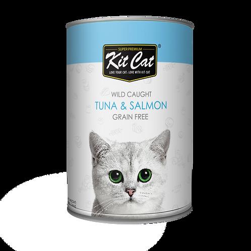 Kitcat Atlantic Tuna With Wild Salmon 400g