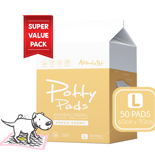 AltimatePet PottyPads ValuePack (L) 60x90cm(50pcs) | Pee Pad