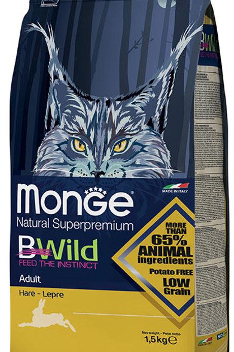 Monge Bwild Cat Adult Hare Dry Food 3.3lbs