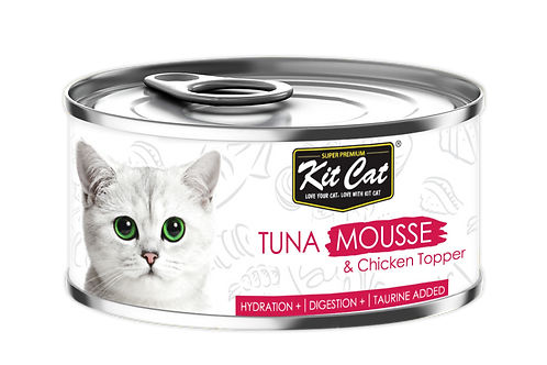 Kit Cat Chicken Mousse & Tuna Toppers 80g