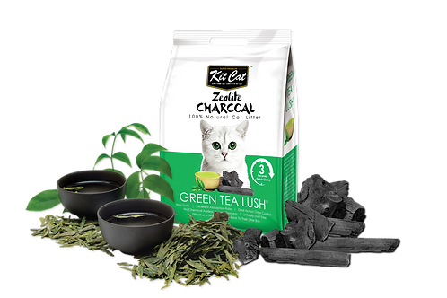 Kit Cat Zeolite Charcoal Green Tea Lush 4kg