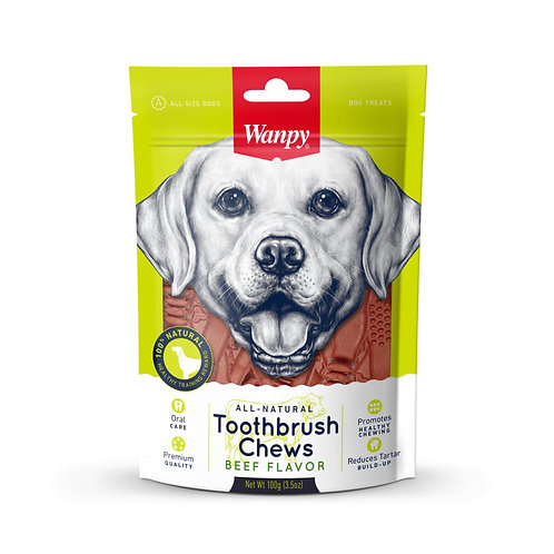 Wanpy All Natural Toothbrush Chew (Beef) 100g