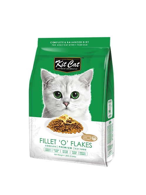 Kit Cat Premium Cat Food Fillet 'O' Flakes