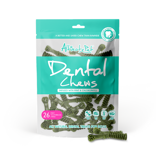 AltimatePet Dental Chews Mint Toothbrush Mini 150g (26pcs)