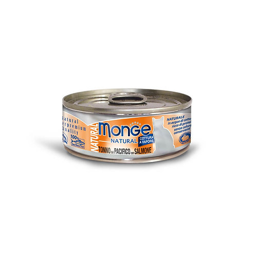 Monge Natural Yellowfin Tuna With Salmon 80g