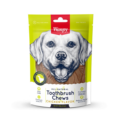 Wanpy All Natural Toothbrush Chew (Chicken) 2 sizes
