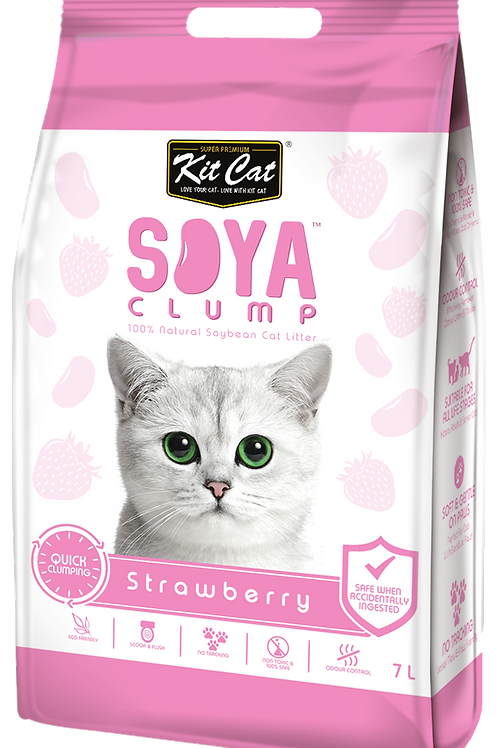 Kit Cat SoyaClump Soybean Litter 7L (Strawberry)