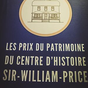 Les prix du Patrimoine du centre d'histoire Sir William Price