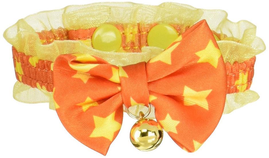 Ошейник-Чокер для  стильного модника. Оранжевый. Размер 3S