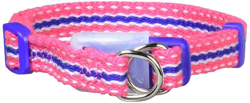 Ошейник с силиконовым креплением и двойной защитой «АнтиСрыв». Розовый