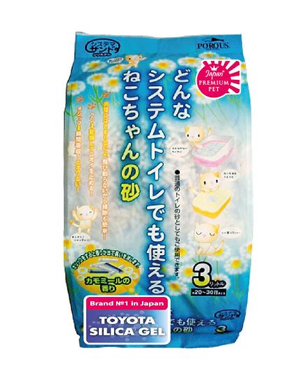 """Комкующийся наполнитиель на основе силикагеля и геолита """"Toyota Silica gel"""""""