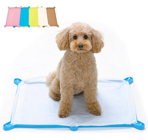 Силиконовый коврик-лоток с бортиком для собачьих пелёнок.  Широкий.