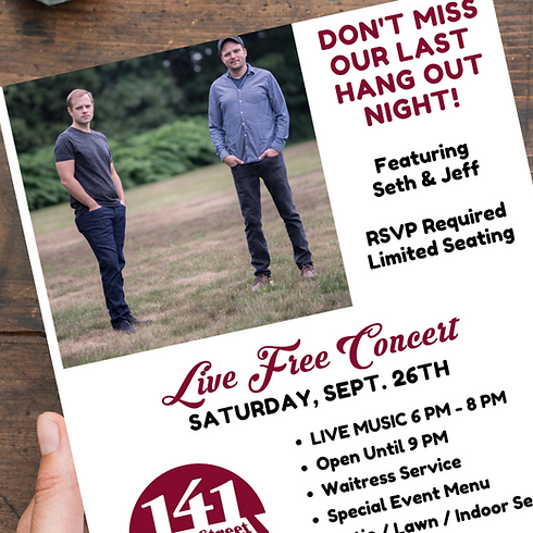 LIVE Concert - with Seth & Jeff
