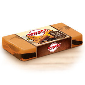 Doces NOPONTO - Doce de leite com chocolate em barra 400 g