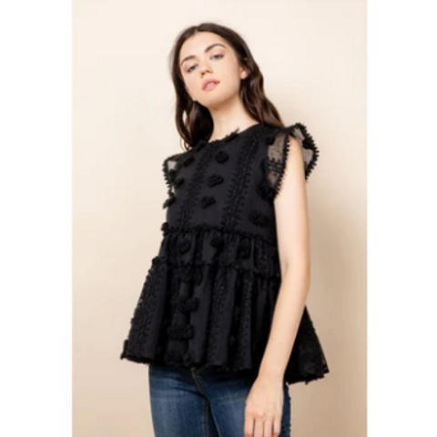 THML Cotton Candy Black Top