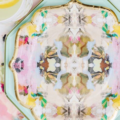 Laura Park Designs BIRDS OF A FEATHER COCKTAIL PLATES