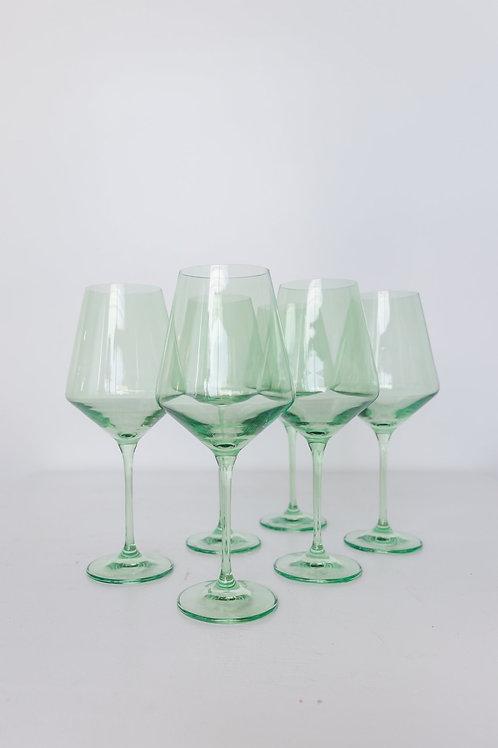 ESTELLE COLORED WINE STEMWARE - SET OF 6 {MINT GREEN}