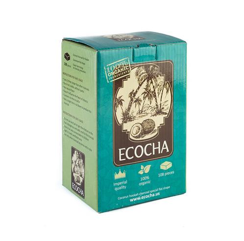 Уголь для кальяна Ecocha (Экоча) кокосовый 108 куб