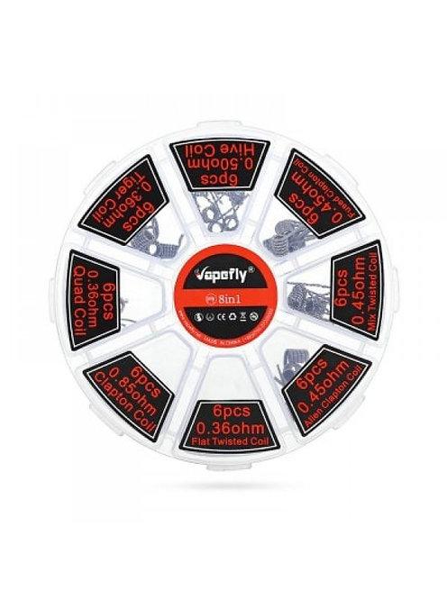 Готовая спираль Vapefly 8 в 1 coil box 48 шт в упаковке