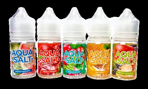 AQUA Salt Pod 30мл (VG-50/PG-50) + 2 бустера по 18мг на солевом никотине