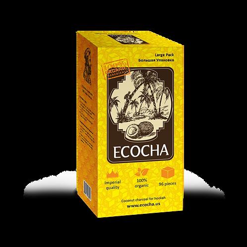 Уголь для кальяна Ecocha (Экоча) кокосовый 96 куб