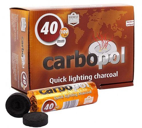 Уголь кальянный Carbopol (Карбопол) 40 мм 10 таб