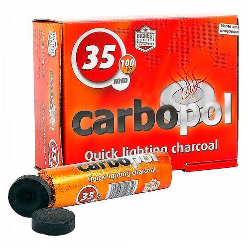 Уголь кальянный Carbopol (Карбопол) 35 мм 10 таб