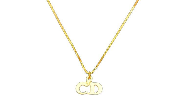 Authentic Christian Dior Mini Pendant - Repurposed Necklace