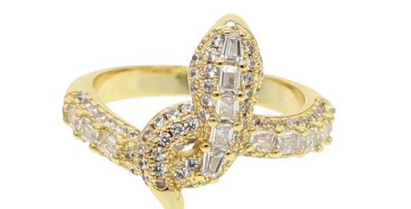 Fídi Diamond Serpent Ring
