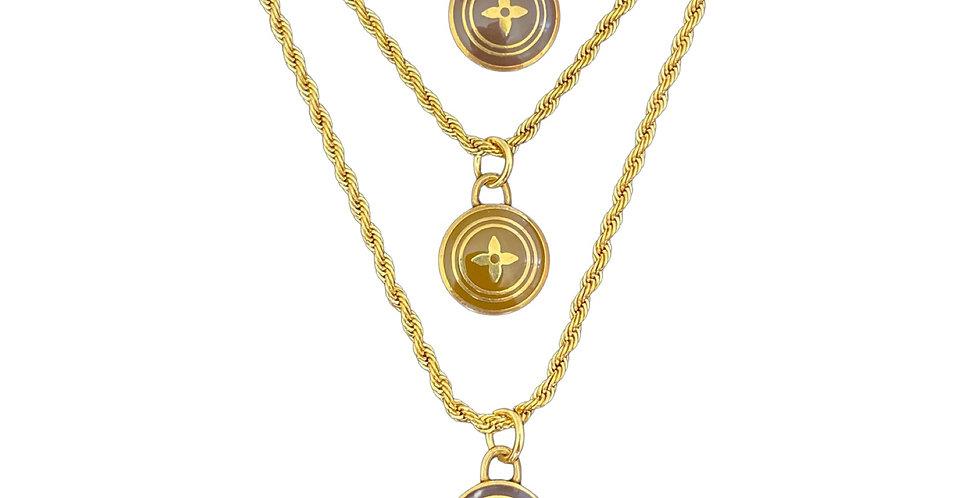 Authentic Louis Vuitton Pastille Diamond Pendant - Repurposed Necklace
