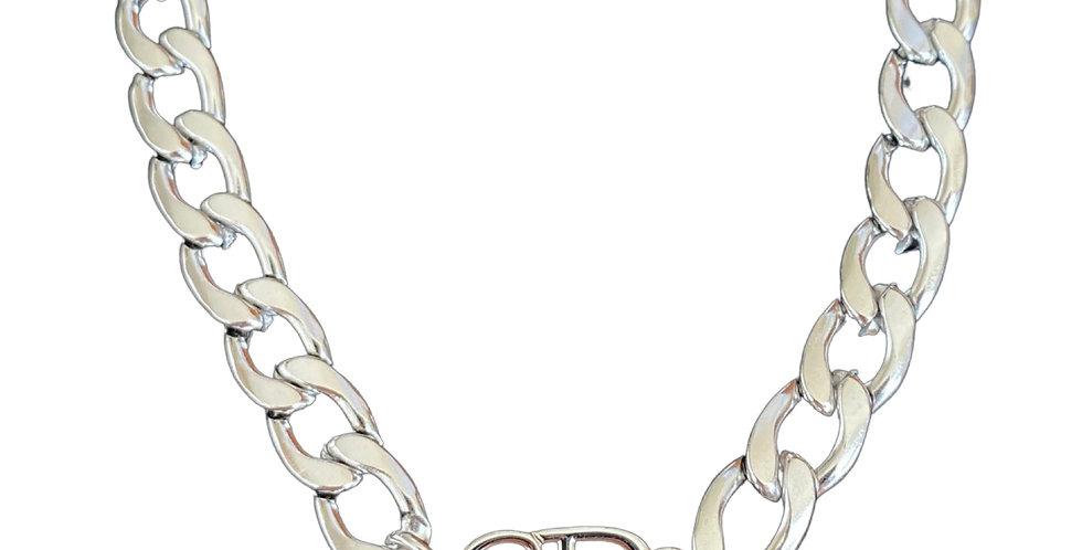 Authentic Silver Christian Dior Pendant - Repurposed Necklace