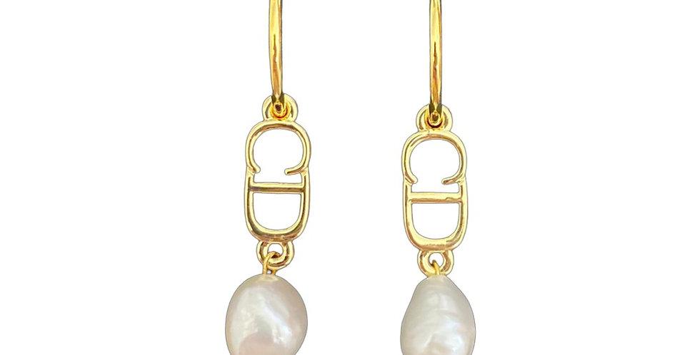 Authentic Christian Dior Pendant - Repurposed Earrings