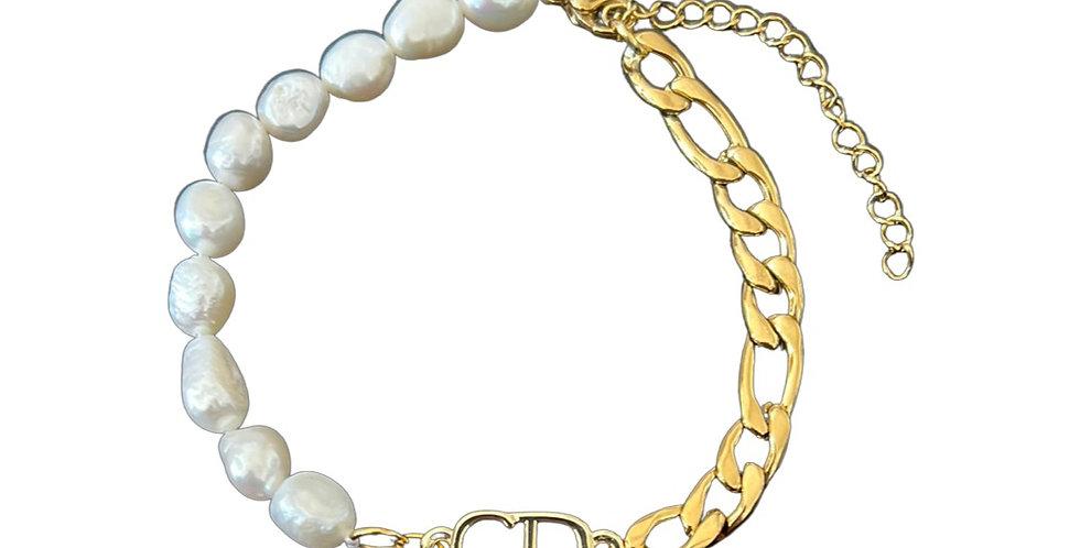 Authentic Christian Dior Pendant - Repurposed Bracelet