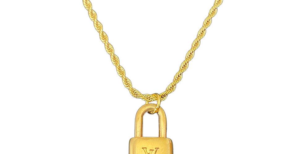 Authentic Louis Vuitton Lock Pendant - Repurposed Necklace