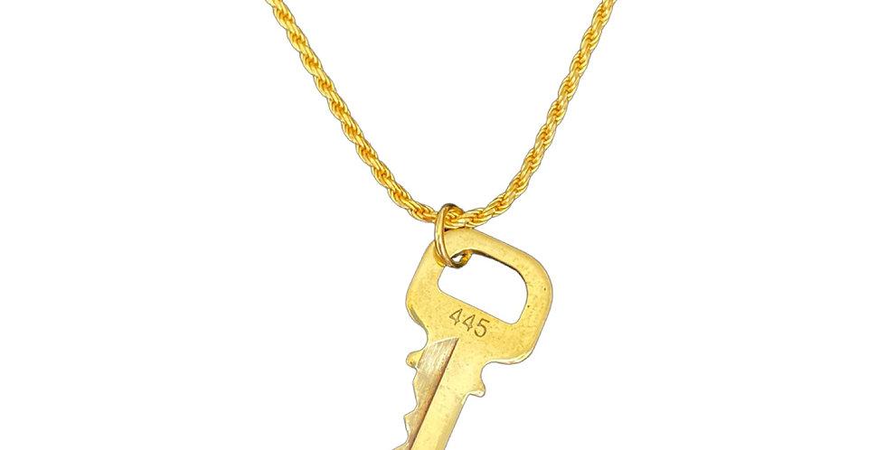 Authentic Louis Vuitton Number Key - Repurposed Necklace