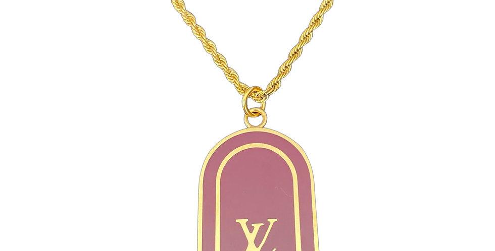 Authentic Louis Vuitton Tag Pendant - Repurposed Necklace